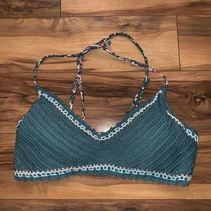 🎈 Crochet bralette bikini top with floral strings
